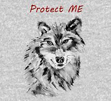 Protect Me - Wolf Art by Valentina Miletic Unisex T-Shirt