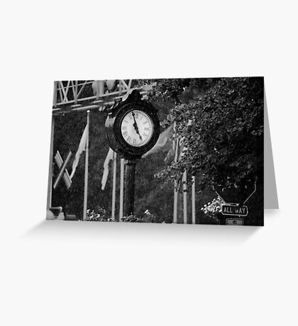 Time Washes Away Greeting Card