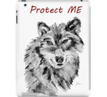 Protect Me - Wolf Art by Valentina Miletic iPad Case/Skin