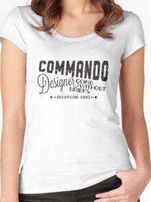 Commando Designer Women's Fitted Scoop T-Shirt
