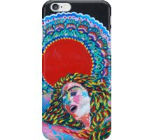 Original Acrylic Painting (A Dance For Sahasrara) iPhone Case/Skin