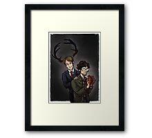 Wendigo Haunting Framed Print
