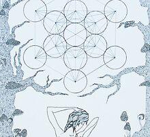 Original Ink Drawing (Sacred Geomancy) by Christina Martine