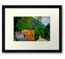 View Of Train Tunnel Framed Print