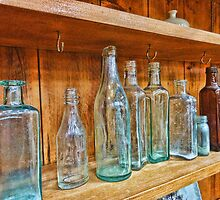 Bottles Antique Style by Cynthia Harris