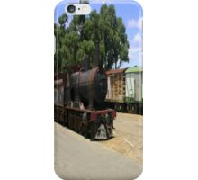 An abandoned locomotive & Carriages iPhone Case/Skin