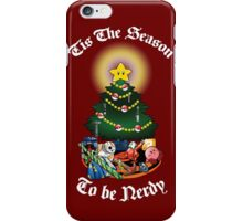 Geekin' Around the Christmas Tree iPhone Case/Skin