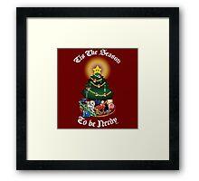 Geekin' Around the Christmas Tree Framed Print