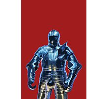 Blue Knight Stencil Photographic Print
