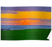 Sunset in the Wheat Belt Poster