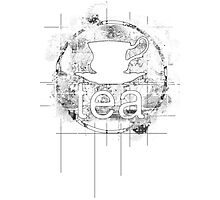 Tea Stencil Photographic Print
