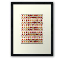 red tulips in rows Framed Print
