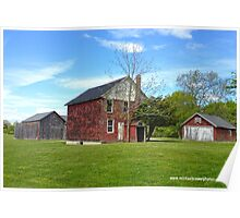 Red Barns near Jamesport Poster