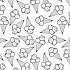 messy ice cream monochrome pattern by demonique