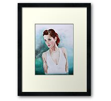 The Lady in White Framed Print