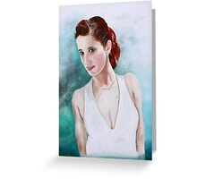 The Lady in White Greeting Card