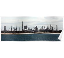 Sea and suburbs to industrial Poster