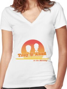 Troy and Abed in the Morning Women's Fitted V-Neck T-Shirt