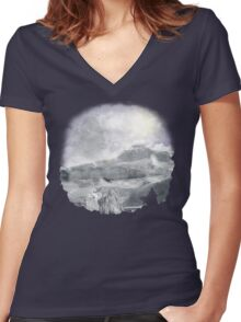 Winter in The Wall Women's Fitted V-Neck T-Shirt
