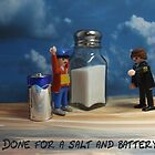 A salt and battery  by Caroline  Peacock