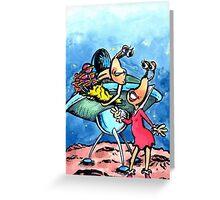 Alien Valentine Greeting Card