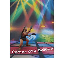 Caveman goes clubbing Photographic Print