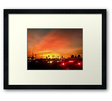 Sunset Commute Framed Print