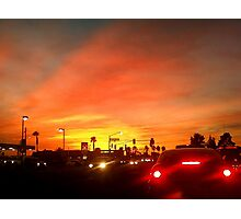 Sunset Commute Photographic Print