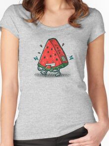 Watermelon Bot Women's Fitted Scoop T-Shirt