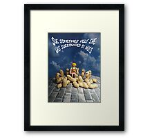 Surrounded by nuts - female Framed Print