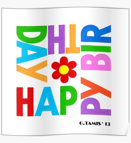 WE WISH YOU HAPPY BIRTHDAY Poster