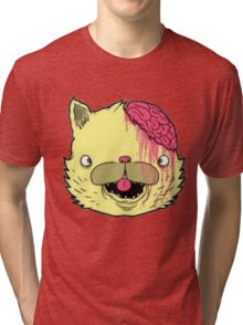 brains cat Tri-blend T-Shirt