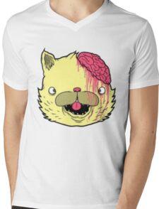 brains cat Mens V-Neck T-Shirt