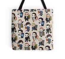 Sherlock Chibis All Over (Warm) Tote Bag