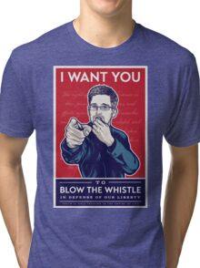 Edward Snowden I Want You Tri-blend T-Shirt