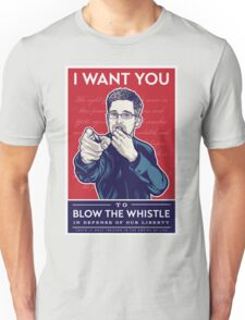 Edward Snowden I Want You T-Shirt
