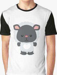 Little Farm Animal Sheep Graphic T-Shirt