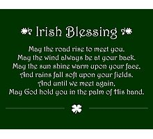 Irish Blessing Photographic Print