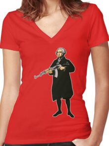 George Washington Women's Fitted V-Neck T-Shirt