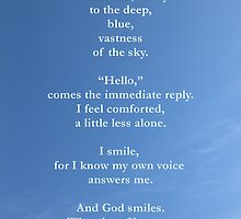 Spiritual Greetings Card Hello God  by Katherine T Owen, Author