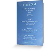 Spiritual Greetings Card Hello God  Greeting Card