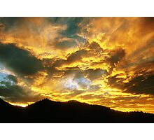 Colorado Sunset Fireworks Photographic Print