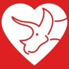 Dinosaur heart: Triceratops by David Orr