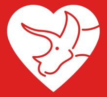 Dinosaur heart: Triceratops by David Orr
