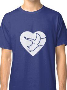Dinosaur heart: Triceratops Classic T-Shirt