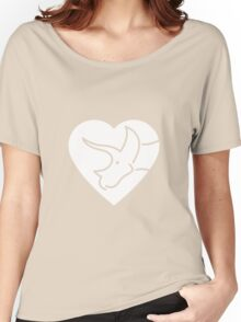 Dinosaur heart: Triceratops Women's Relaxed Fit T-Shirt