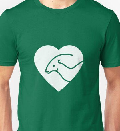 Dinosaur heart: Parasaurolophus Unisex T-Shirt