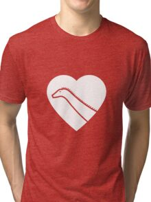 Dinosaur heart: Diplodocus Tri-blend T-Shirt