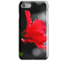 Bright Red Flower iPhone Case/Skin