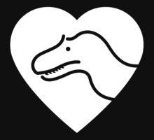 Dinosaur heart: Torvosaurus Baby Tee